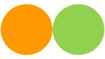 オレンジ・黄緑